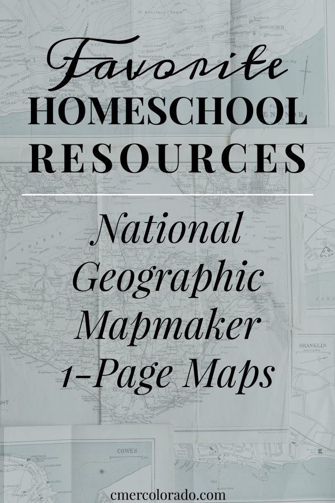 Favorite Homeschool Resources National Geographic Mapmaker